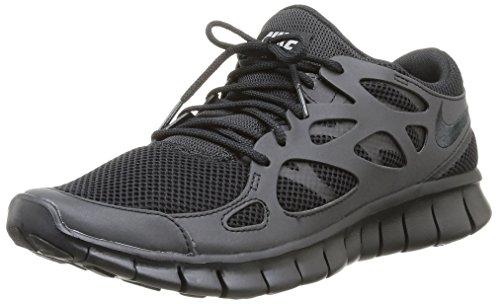 nike free run 2 black trainers