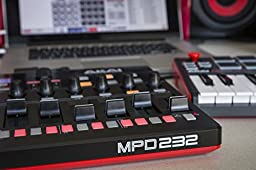 Akai Professional MPD232 | MIDI Drum Pad Controller with Software Download Package (16 pads / 8 knobs / 8 buttons / 8 faders)