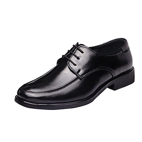 Gaorui Men's Casual Flats Pu Leather Shoes Lace up Dress/formal Business Oxford Classic