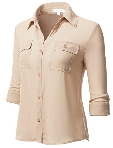 H2H Womens Casual Cuffed Sleeve