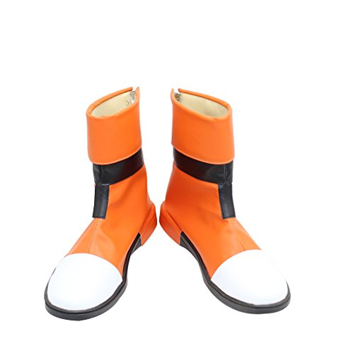 Short Boots Shoes Animated Series Characters Cosplay X002 Orange,White