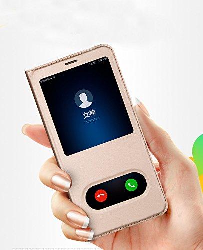 timeless design aa3f9 22068 QAWACHH Smart Flip Cover for Huawei Honor 7X (Gold)