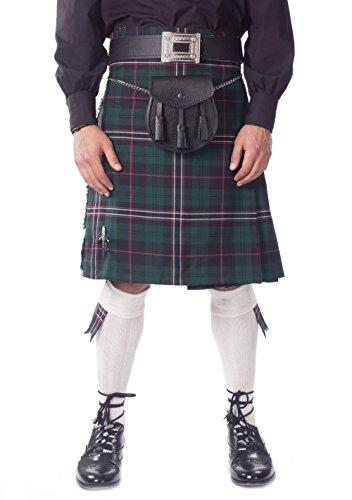 Kilt Society Mens 7 Piece Casual Kilt Outfit with White Hose - Scottish National Tartan 38