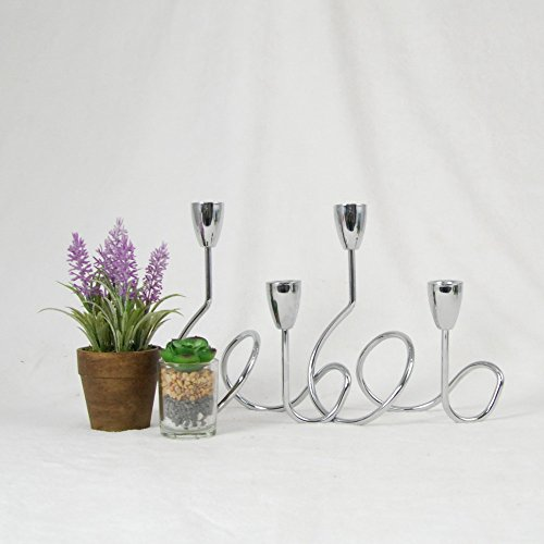 Giftburg 4-light Metal Taper Candelabra/Silver Finish