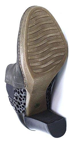 Maripe Stiefelette metallic High Grau grau animal Heel topo 6qqdrB