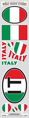 - Car Chrome Decals STS-IT Italy 10 stickers set Italian flag decals bumper stiker car auto bike laptop