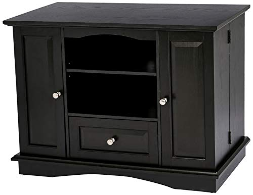 - Rockpoint Milano Highboy-Style Wood TV Stand Media Console, 42-Inch, Espresso Black