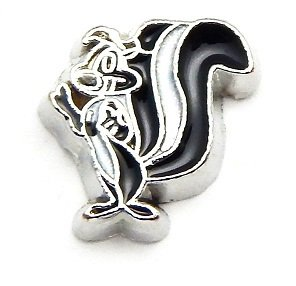 Cherityne Cartoon Character Pepé Le Pew Skunk Floating Charm for Locket (Skunk Charm)