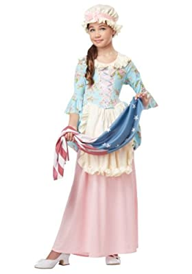 California Costumes Colonial Lady/Betsy Ross/Martha Washington/Ch Costume
