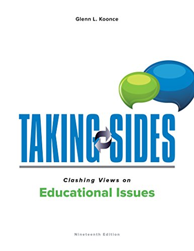Pdf Teaching Taking Sides: Clashing Views on Educational Issues
