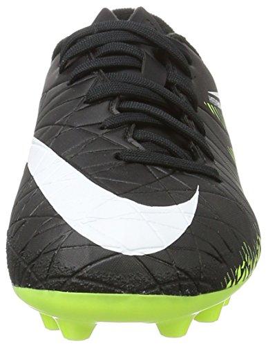 Nike 856460-017, Botas de Fútbol para Niños Negro (Black / White / Volt / Paramount Blue)