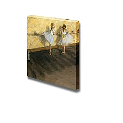 Dancers Practicing at The Barre by Edgar Degas Famous Fine Art Reproduction World Famous Painting Replica on ped Print Wood Framed - Canvas Art Wall Art - 24