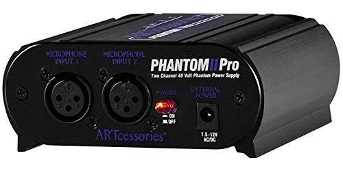 ART Phantom II Pro 2-Channel 48V Phantom Power Supply by ART