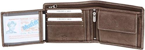 Portamonete Thomson formato orizzontale in pelle hunter (pelle integrale), colore:Tabacco