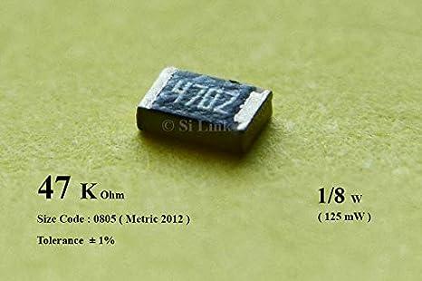 ± 0805 150 V 100 kohm 10 X SMD Chip Resistor 125 mW Ceramic 2012 Metric