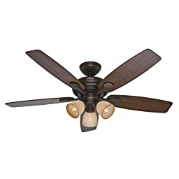 Hunter Fan Company 53051 Conway 52-Inch Cocoa Ceiling Fan with Five Walnut/Stained Oak Blades and a Light Kit