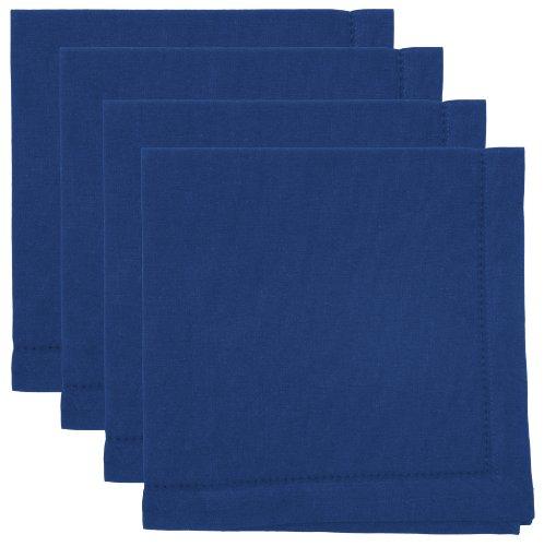Now Designs Hemstitch Cotton Napkins, Set of Four, Indigo ()