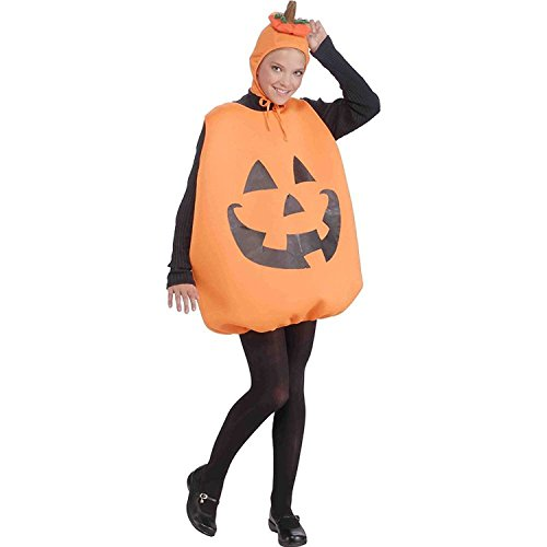 Orange Jumpsuit Costume Spirit Halloween (Womens Lady Pumpkin Halloween Costume Jumpsuit Hat Size Standard +eBook)
