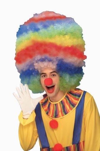 Bozo The Clown Wig (Forum Rainbow Stripped Giant Clown Wig)