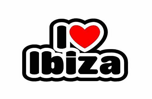I Love Ibiza - Sticker For Car Bike Van Camper Bumper Sign Decal (Camper Door Bumper compare prices)
