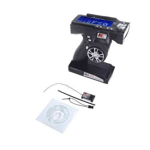 Kingzer FS-GT3B 2.4G 3CH LED Transmitter+Receiver For RC Car Boat Radio Control Black by KINGZER (Image #2)