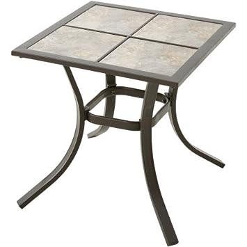 Mainstays Heritage Park 18 x 18 Side Table, Matte Espresso Finish