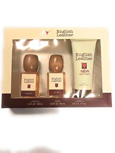 Dana English Leather Men's Fragrances 3-Pc Gift Set Leather Gift Set After Shave