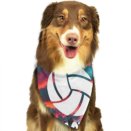 Pet Scarf Dog Bandana Bibs Triangle Head Scarfs Volleyball Sign Accessories for Cats Baby Puppy -