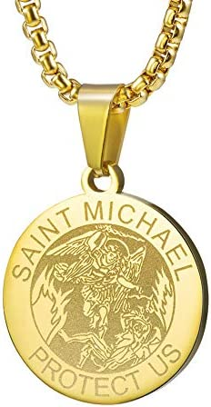 Wolentty Saint Michael Necklace Stainless product image