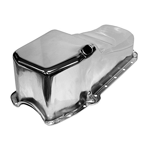 (Assault Racing Products A9005 Small Block Chevy Stock Capacity Chrome Oil Pan SBC 327 350 400)