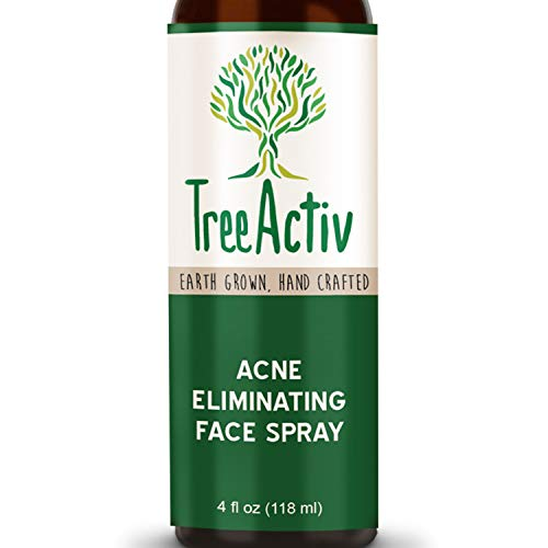 TreeActiv Acne Eliminating Face Spray | Facial Mist to Cleanse, Tone, Balance Skin | Lemongrass Water, Sandalwood Water, Witch Hazel, Salicylic Acid | Works as Aftershave | Made in USA | 4 fl oz