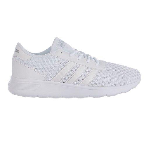 adidas Women's Lite Racer Running Shoe, White/White/Matte Silver, 9 M - Running White