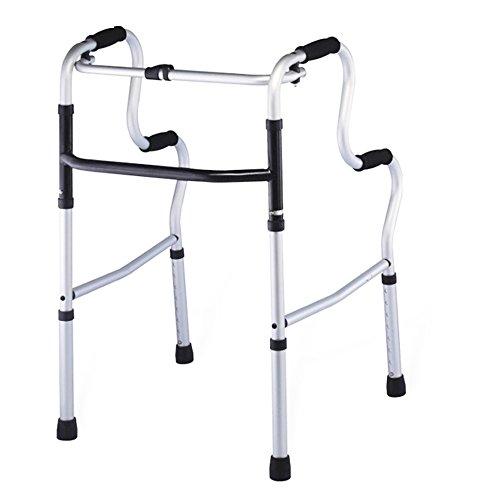 XIHAA Elderly People Portable Walker Aid Disabled Adjustable Foldable Non-Slip Foot Pad Walking Rehabilitation Equipment Bathroom Bath Chair (Without Wheel) by XIHAA