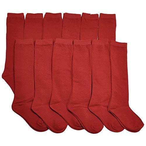 Angelina Cotton Classic Uniform Knee-High School Socks (12-Pairs), 3102_S]()