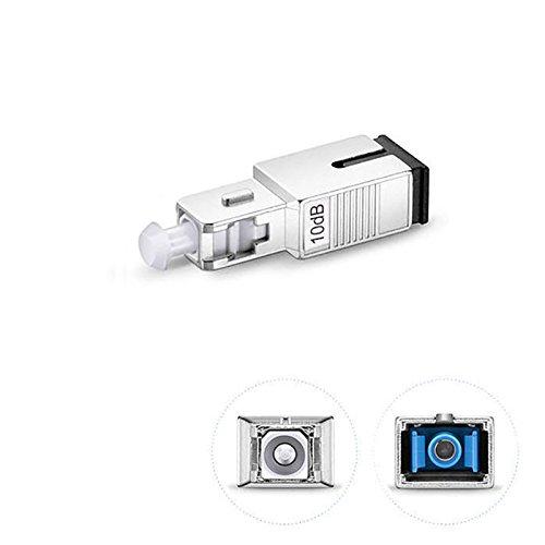 Jeirdus 10Db SC/UPC Female to Male Fiber Optic Attenuator SC Single Mode Simplex Fixed Optical Attenuator