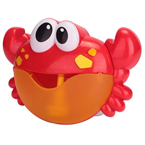 - JPJ(TM)1Pcs Hot Creative Bluetooth Speaker Crab Bubble Machine Automatic Bubble Maker Music Bath Toy Gift