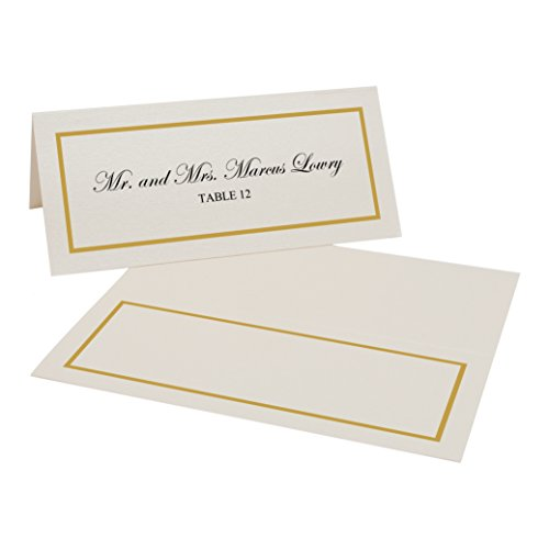 Gold Border Place Cards - 9