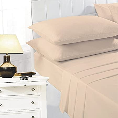 Night Zone Easy Care Polycotton Housewife Pillow Cases Chocolate Pair