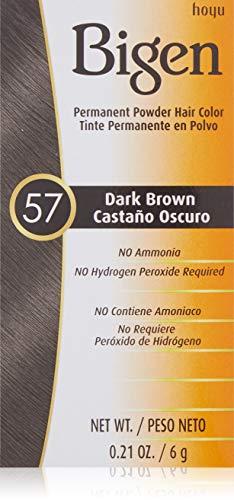 (Bigen Powder Hair Color #57 Dark Brown 0.21oz (2 Pack))