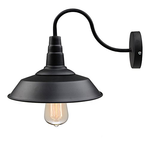LNC A0224101 Black Gooseneck Wall Sconces Barn Warehouse Farmhouse Lighting by LNC