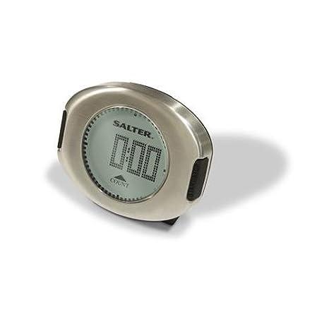 Compra Salter Gourmet - Reloj digital de cocina con cuentaminutos, color plateado en Amazon.es