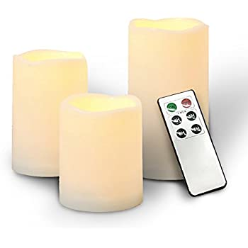 Amazon.com: [3 PACK] Outdoor Flameless Candles 2win2buy