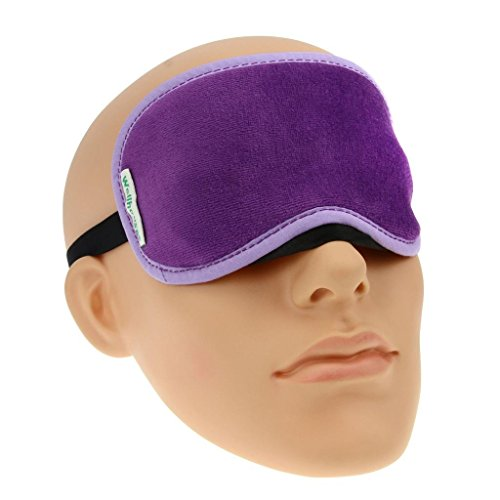 Price comparison product image Starsource Comfortable Velour Pure Eye Mask Sleep Eyeshade Velvet Eyeshade Blinder With Five Color Purple