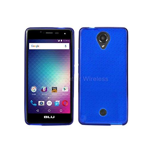 BLU R1 HD case, {NFW} TPU Gel Rubber Soft Skin Silicone Protective Case Cover for BLU R1 HD (R0010UU)(TPU Blue)