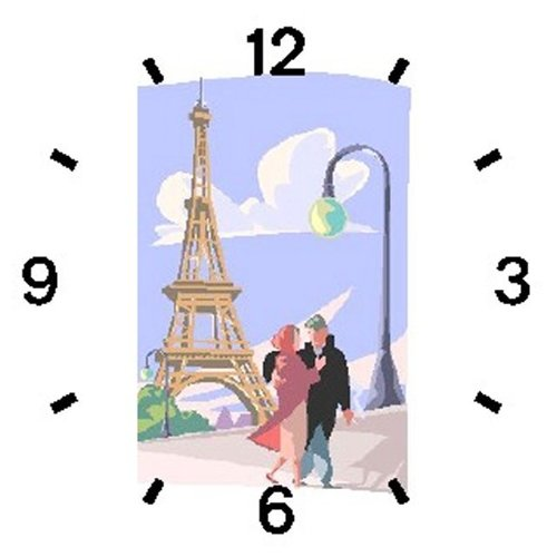 Paris City of Love - Eiffel Tower Paris & France Theme - WATCHBUDDY ELITE Chrome-Plated Metal Alloy Watch with Metal Mesh Strap-Size-Large ( Men's Size or Jumbo Women's Size ) by WatchBuddy (Image #1)