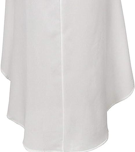 COZOCO Vestido de Gasa Irregular sin Mangas Elegante Generoso Casual de Cuello Redondo Ligero: Amazon.es: Ropa y accesorios