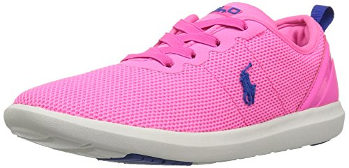 Polo Ralph Lauren Kids' Kasey Gore Sneaker, Neon Pink, 4 M US Big - Ralph Lauren Us Polo By