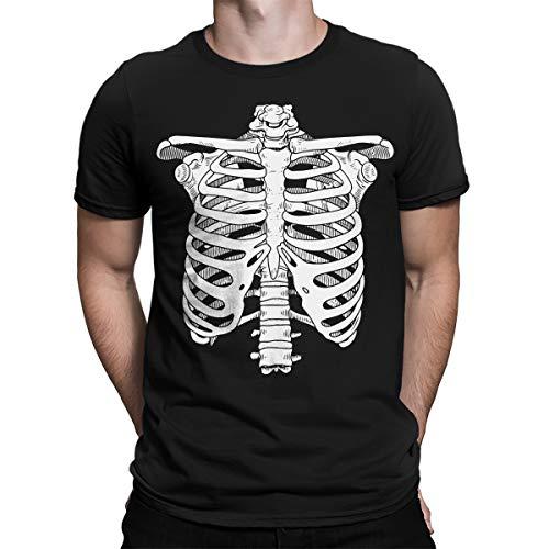 SpiritForged Apparel Skeleton Ribcage Men's T-Shirt, Black XL -