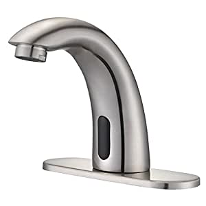 Auto electronic sensor touchless bathroom sink faucet commercial free hands tap for Hands free commercial bathroom faucets