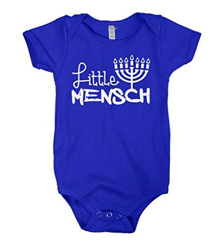 Mixtbrand Baby Boys' Little Mensch Infant Bodysuit 18M Royal